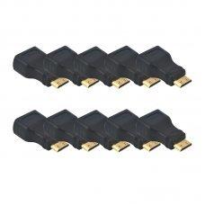 Adaptador HDMI Fêmea x Mini HDMI Macho com 10 UN