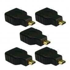 Adaptador HDMI Fêmea x Micro HDMI Macho com 5 UN