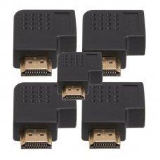 Adaptador HDMI em L Macho x Fêmea Esquerda com 5 UN