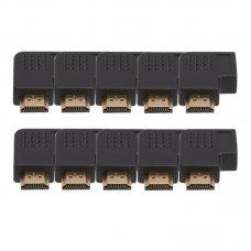 Adaptador HDMI em L Macho x Fêmea Esquerda com 10 UN