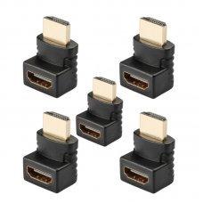 Adaptador HDMI 270 Graus Macho x Fêmea com 5 unidades ADA-3125