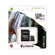 Cartão de Memória 128GB Kingston Micro SD + Adaptador SDCS2
