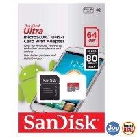 Cartão de Memória 64Gb Sandisk Ultra Micro SD + Adaptador SD SDSQUNC