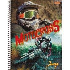 Caderno Espiral 1/4 80 Folhas 1x1 Capa Dura Jump Motocross Foroni
