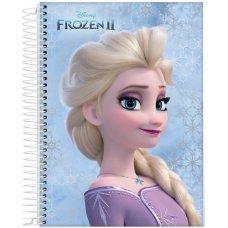 Caderno Universitário Capa Dura 1x10 160 Folhas Frozen Jandaia