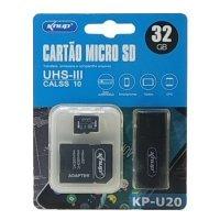 Cartão de Memória 32GB Knup Ultra Micro SD + Adaptador SD Class10 KP-U20