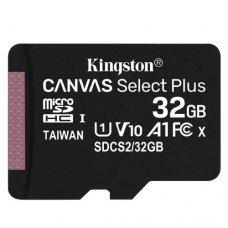 Cartão de Memória Kingston Canvas Select Plus MicroSD 32gb Classe 10