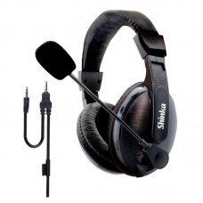 Headphone com Microfone Plug P3 SH-FO-168 Shinka
