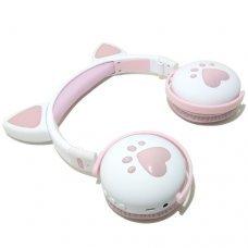 HeadPhone com Orelhas de Gato Wireless BK1 Branco