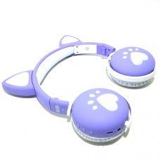 HeadPhone com Orelhas de Gato Wireless BK1 Roxo