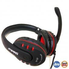 Headphone Com Microfone Usb SH-Q7 Preto Shinka