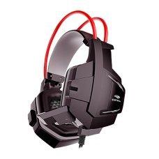 Headset com Microfone Gaming Sparrow Preto e Vermelho PH G11BK C3 Tech