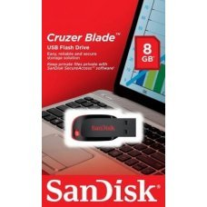 Pen Drive 8GB Sandisk Cruzer Blade SDCZ50, pendrive