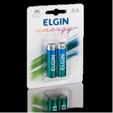 Pilha AA Alcalina com 2 82152 Elgin