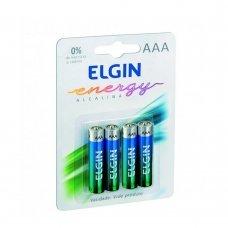 Pilha AAA Alcalina com 4 82155 Elgin