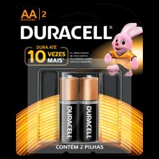 Pilha AA Alcalina com 2 MN1500B2 Duracell