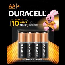 Pilha AA Alcalina com 4 MN1500B4 Duracell