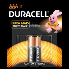 Pilha AAA Alcalina com 2 MN2400B2 Duracell