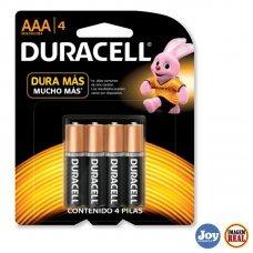 Pilha Alcalina Palito Duracell com 4 AAA MN 2400B4