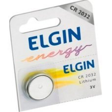 Pilha Bateria Cr2032 Lithium 3v Elgin - 1 Uni