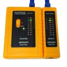 Testador de Cabo de Rede RJ45 e Telefônico RJ11 TR200 Exbom