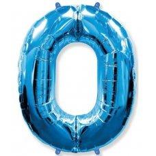 Balão Metalizado Azul Número 0 40' 100cm 8444 Make+
