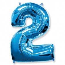 Balão Metalizado Azul Número 2 40' 100cm 8446 Make+