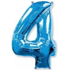 Balão Metalizado Azul Número 4 40' 100cm 8448 Make+