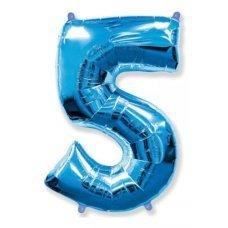 Balão Metalizado Azul Número 5 40' 100cm 8449 Make+