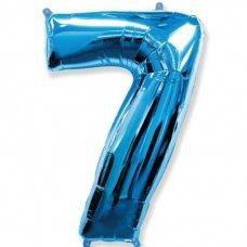 Balão Metalizado Azul Número 7 40' 100cm 8451 Make+