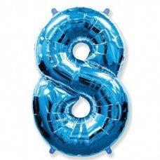 Balão Metalizado Azul Número 8 40' 100cm 8452 Make+