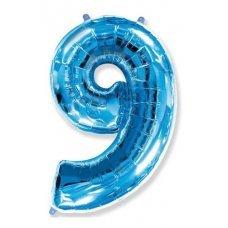 Balão Metalizado Azul Número 9 40' 100cm 8453 Make+