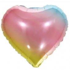 Balão Metalizado Coração Arco Íris 18' 45cm 8540 Make+