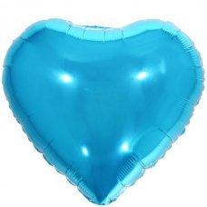 Balão Metalizado Coração Azul 18' 45cm 8538 Make+