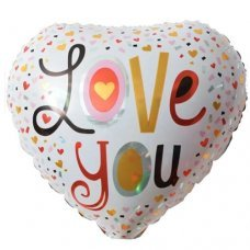 Balão Metalizado Coração Love You 18' 45cm 8572 Make+