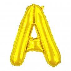 Balão Metalizado Dourado Letra A 16' 40cm 8000 Make+