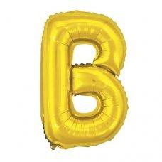 Balão Metalizado Dourado Letra B 16' 40cm 8001 Make+