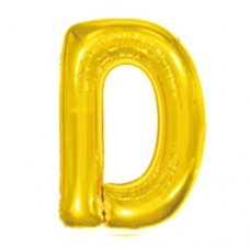 Balão Metalizado Dourado Letra D 40' 100cm 8269 Make+