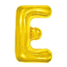 Balão Metalizado Dourado Letra E 16' 40cm 8004 Make+