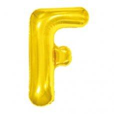 Balão Metalizado Dourado Letra F 16' 40cm 8005 Make+