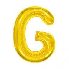 Balão Metalizado Dourado Letra G 16' 40cm 8006 Make+