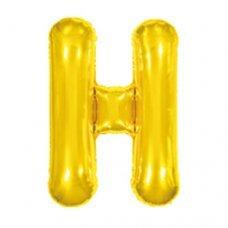 Balão Metalizado Dourado Letra H 16' 40cm 8007 Make+