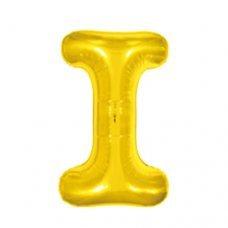 Balão Metalizado Dourado Letra I 16' 40cm 8008 Make+