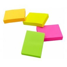 Bloco Post it 38x50mm com 4 Unidades Colorido Neon 74170-5 50fls Maxprint