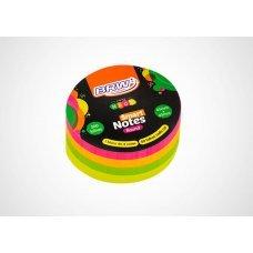 Bloco Post it 45x45mm Colorido Round Neon BA4502  200fls BRW