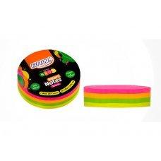 Bloco Post it 70x70mm Colorido Round Neon BA7002 200fls BRW