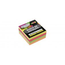 Bloco Post it 76x76mm Colorido Neon 400fls BA7676 BRW