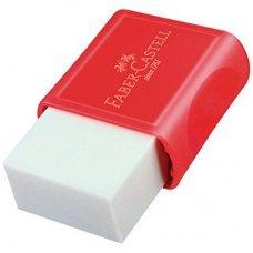 Borracha Branca com Capa Vermelha Faber-Castell