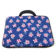 Capa para Notebook 15,6 polegadas com Estampa Azul com Flores
