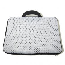 Capa para Notebook 15,6 polegadas com Estampa Branca com Bolinhas Pretas